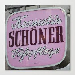 Schoener Canvas Print