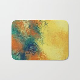 green brown and yellow painting texture abstract background Bath Mat
