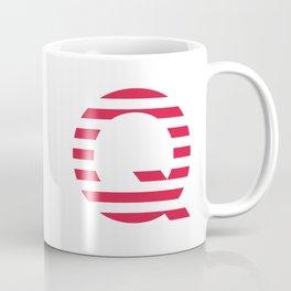 Qanon American Red Patriotic Stripes USA Great Awakening Q Coffee Mug