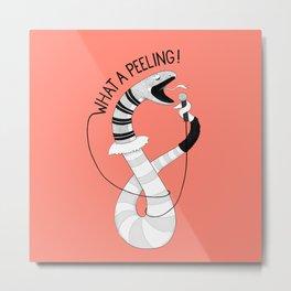 Snake singing Flashdance | Animal Karaoke | Illustration | Red Metal Print