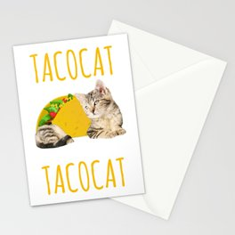 Taco Cat Gift Foodie Kitty Cat Funny Mexican Food Present Stationery Cards