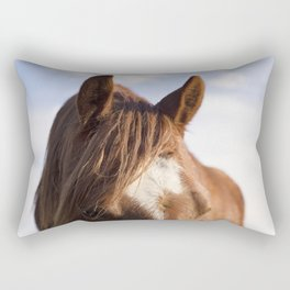 Modern Horse Print Rectangular Pillow