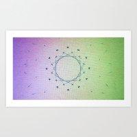 Sparkle Tube Art Print
