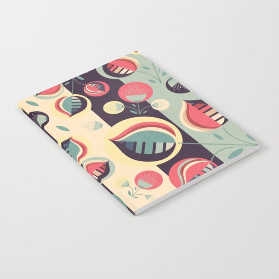 50's floral pattern II Notebook