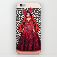 kardashian iPhone & iPod Skins featuring Queen of Hearts by Sara Eshak