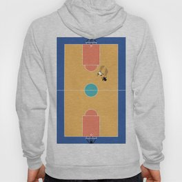 Street Basketball From Above  Hoody