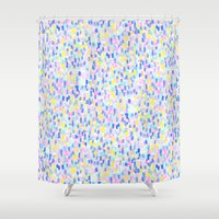 toddler Shower Curtains featuring Delight Pastel by Jacqueline Maldonado