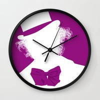 willy wonka Wall Clocks featuring Willy Wonka Tribute Poster by stefano manca
