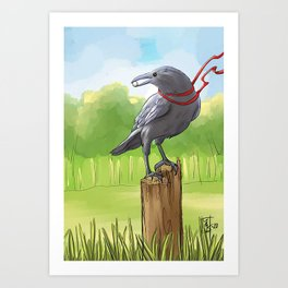 Message from Crow Art Print