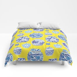 Chinoiserie Ginger Jar Collection No.2 Comforters