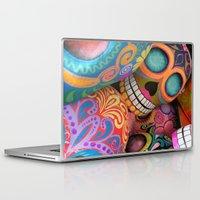 sugar skulls Laptop & iPad Skins featuring sugar skulls by wet yeti