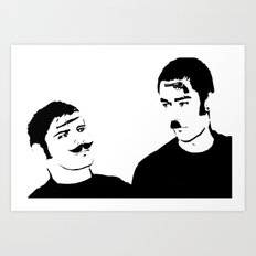 Mustache Made Me Do It Art Print
