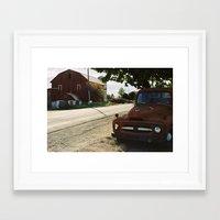 truck Framed Art Prints featuring Truck by Jessica Krzywicki