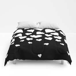 Love isn't Black and White Comforters