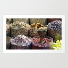 Spice souk Dubai Art Print