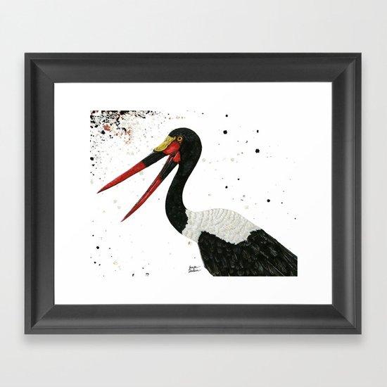 Saddle-billed Stork Quinn Framed Art Print