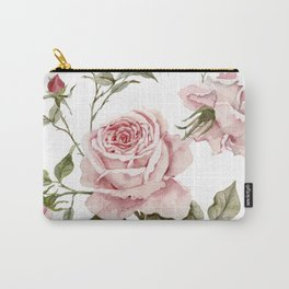 Pink Roses – Original Watercolor Carry-All Pouch