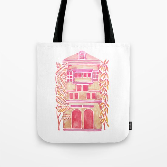 Tropical House – Pink Ombré Tote Bag