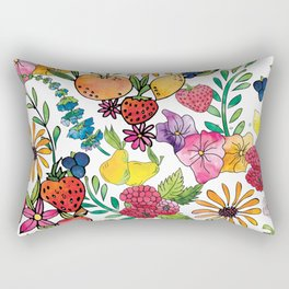 Fruits in the Forest Rectangular Pillow