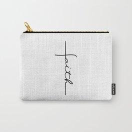 Faith Cross Carry-All Pouch