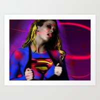 supergirl Art Prints featuring Supergirl by EarlyHuman