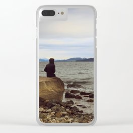Looking at the lake Clear iPhone Case