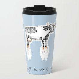 and no-one thought to ask if cows could fly Metal Travel Mug