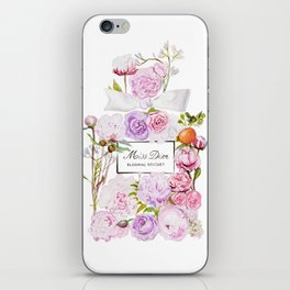 Parfum Perfume Fashion Floral Flowers Blooming Bouquet iPhone Skin