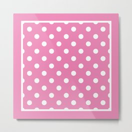 Pink Polka Dots Palm Beach Preppy Metal Print