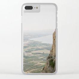 Mt. Arbel and the Sea of Galilee - Holy Land Fine Art Film Photography Clear iPhone Case