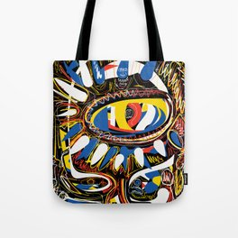 The Third Eye Primitive African Art Graffiti Tote Bag
