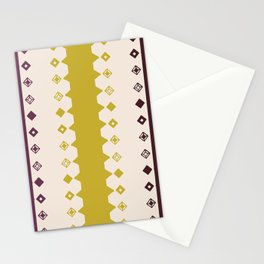 Diamond Stripe Color 003 Stationery Cards