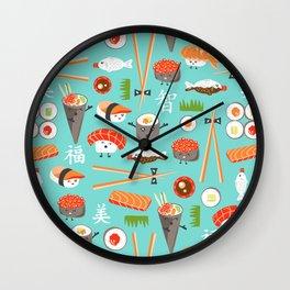 Happy Sushi Wall Clock