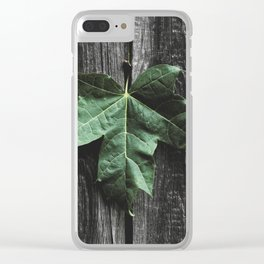 Maple Acer leaf Clear iPhone Case
