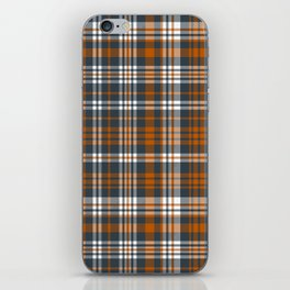Texas orange and white university texans longhorns college football sports plaid iPhone Skin