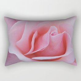 Rose Petal Pink Rectangular Pillow