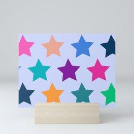 Colorful Stars Mini Art Print