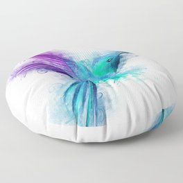 Humming Bird Floor Pillow
