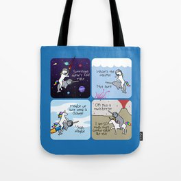 Not Quite Right (Horned Warrior Friends) Tote Bag