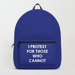 I protest for those who cannot - purple Backpack