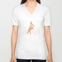 britney V-neck T-shirts featuring Britney Fancy by eriicms