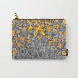 Real Aspen Leaves Collage Carry-All Pouch
