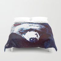 run Duvet Covers featuring Death run by Robert Farkas
