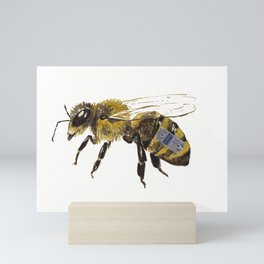 The life of a Bee II Mini Art Print