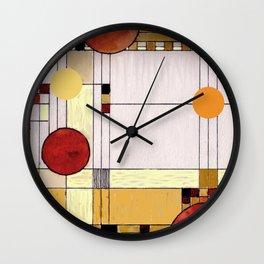 Astratto Rosso Wall Clock