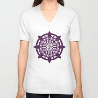 yoga V-neck T-shirts featuring Yoga by Janava