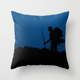 The Route Less Travelled Throw Pillow