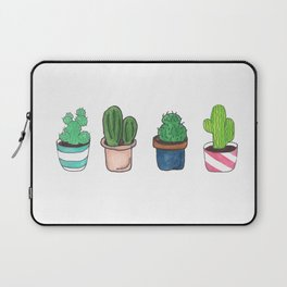 1 Cactus, 2 Cacti, 3 Cacti Four- Watercolor Design Laptop Sleeve