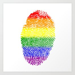 LGBT Pride Fingerprint (Gay Pride) Art Print