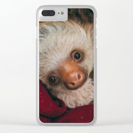 Baby Sloth Cute Clear iPhone Case